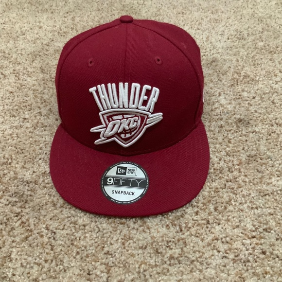 New Era Other - Oklahoma City Thunder NBA SnapBack Hat Burgundy